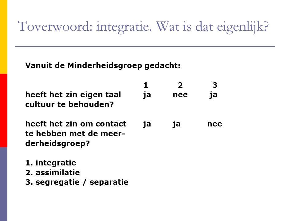 Toverwoord: integratie. Wat is dat eigenlijk