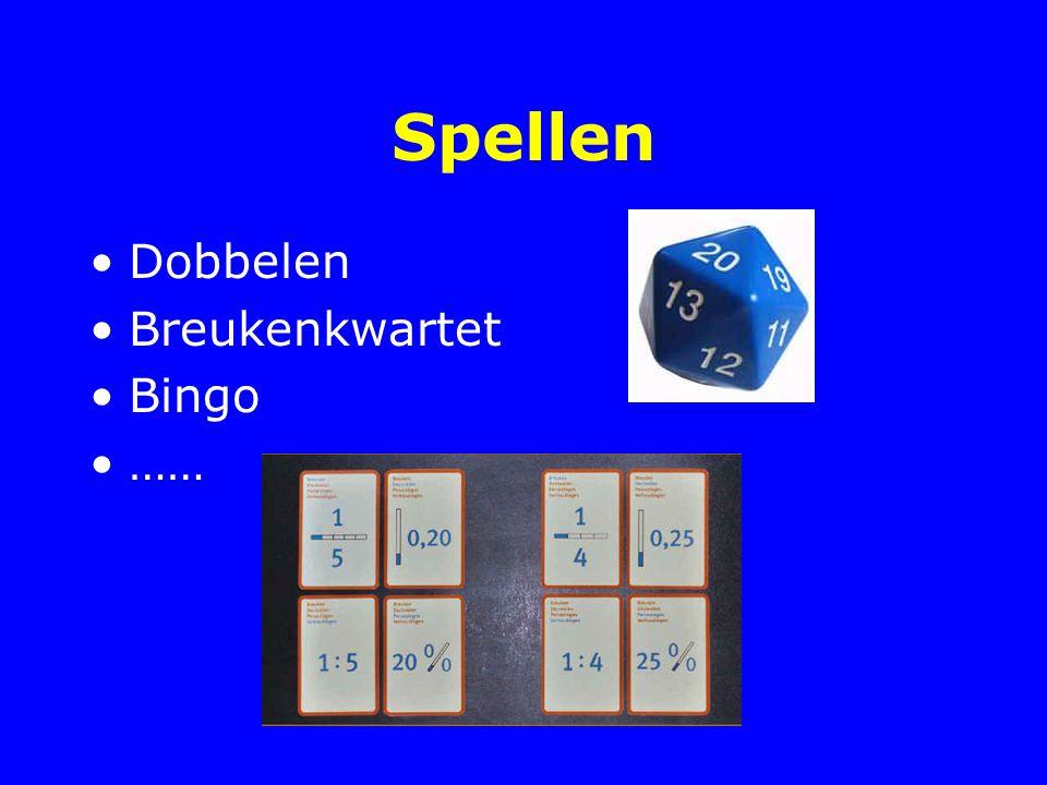 Spellen Dobbelen Breukenkwartet Bingo ……