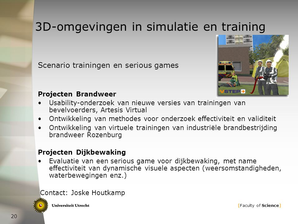 3D-omgevingen in simulatie en training