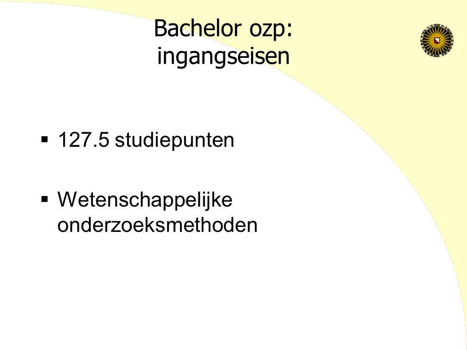 Bachelor ozp: ingangseisen