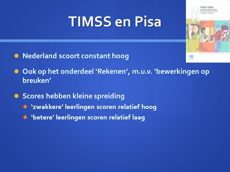 TIMSS en Pisa Nederland scoort constant hoog