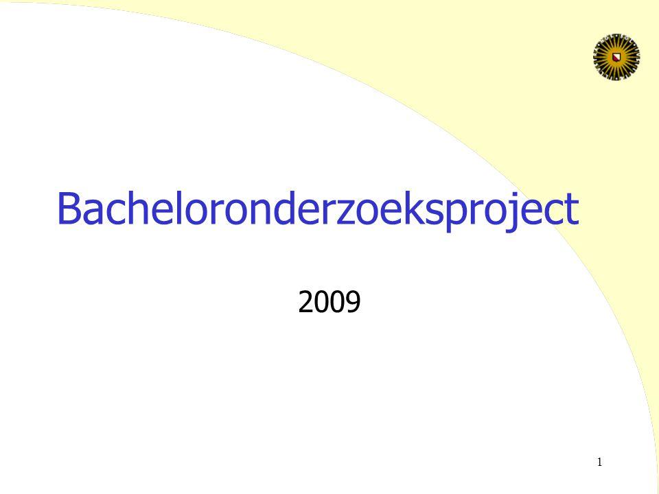 Bacheloronderzoeksproject
