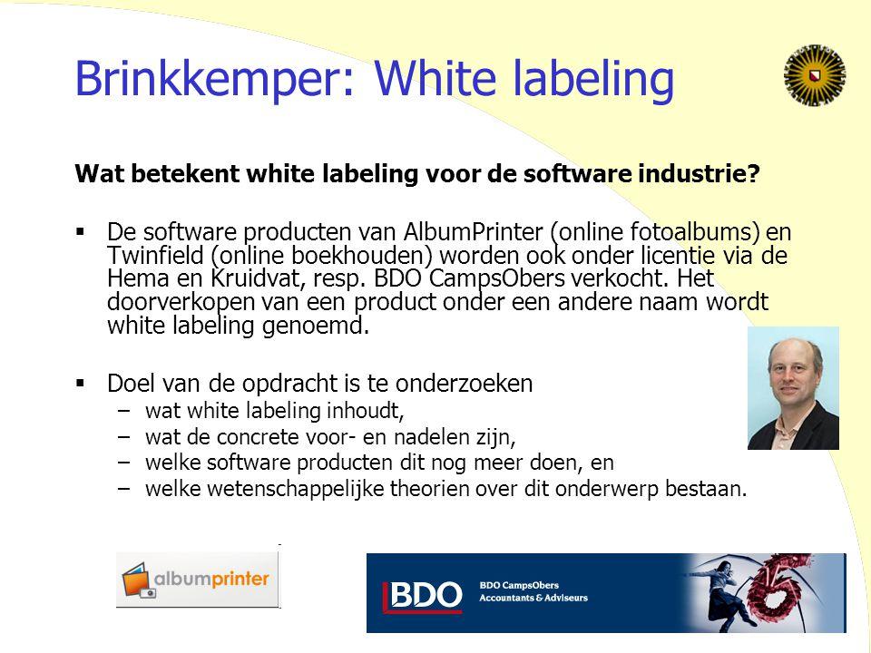 Brinkkemper: White labeling
