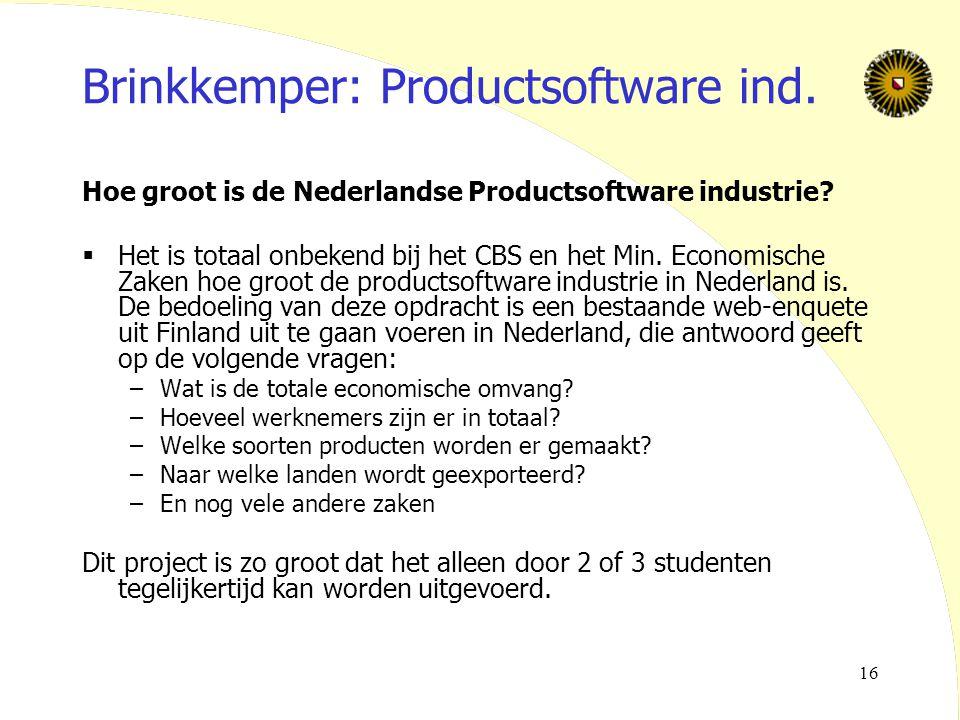 Brinkkemper: Productsoftware ind.