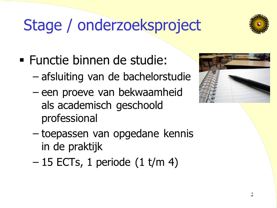 Stage / onderzoeksproject
