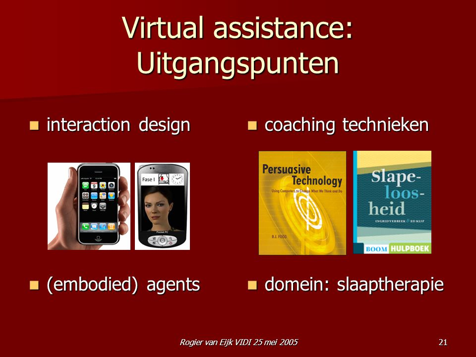Virtual assistance: Uitgangspunten