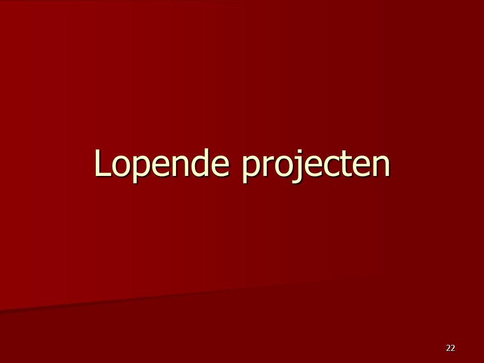 Lopende projecten