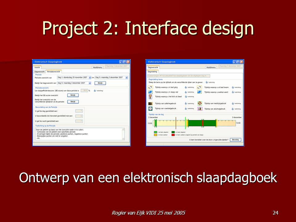 Project 2: Interface design