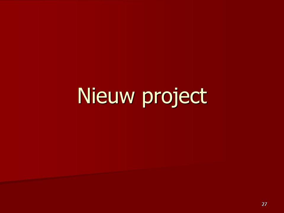 Nieuw project
