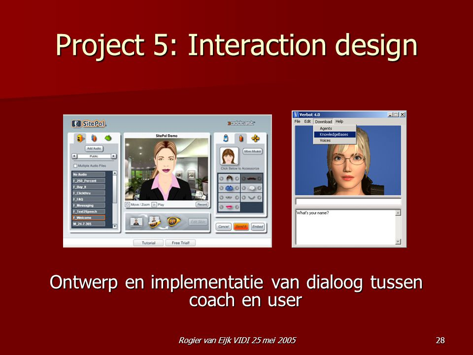 Project 5: Interaction design