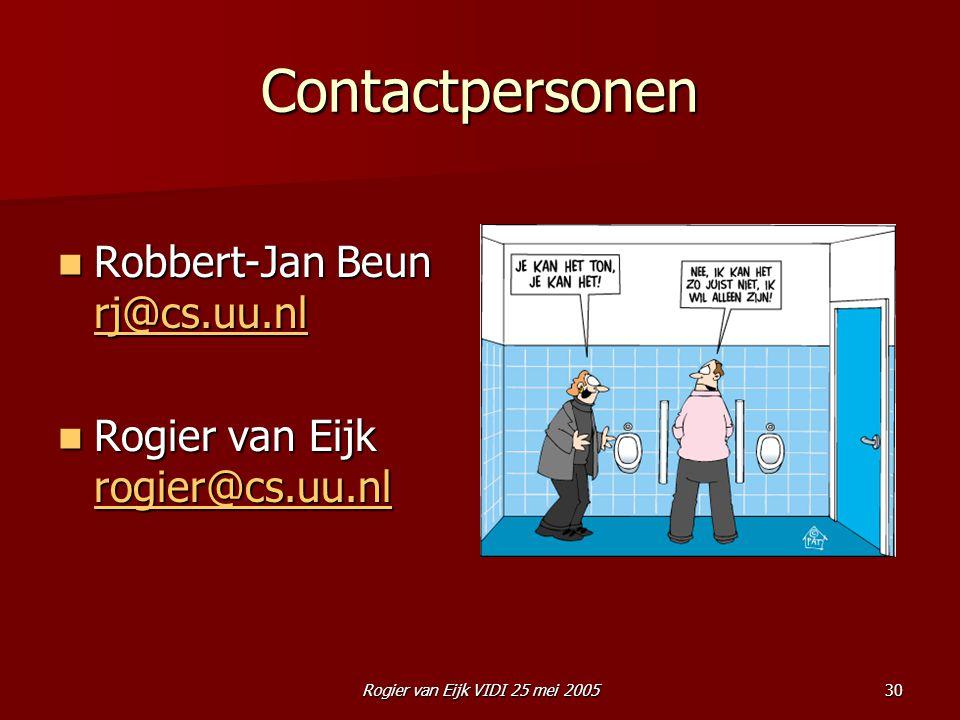 Rogier van Eijk VIDI 25 mei 2005