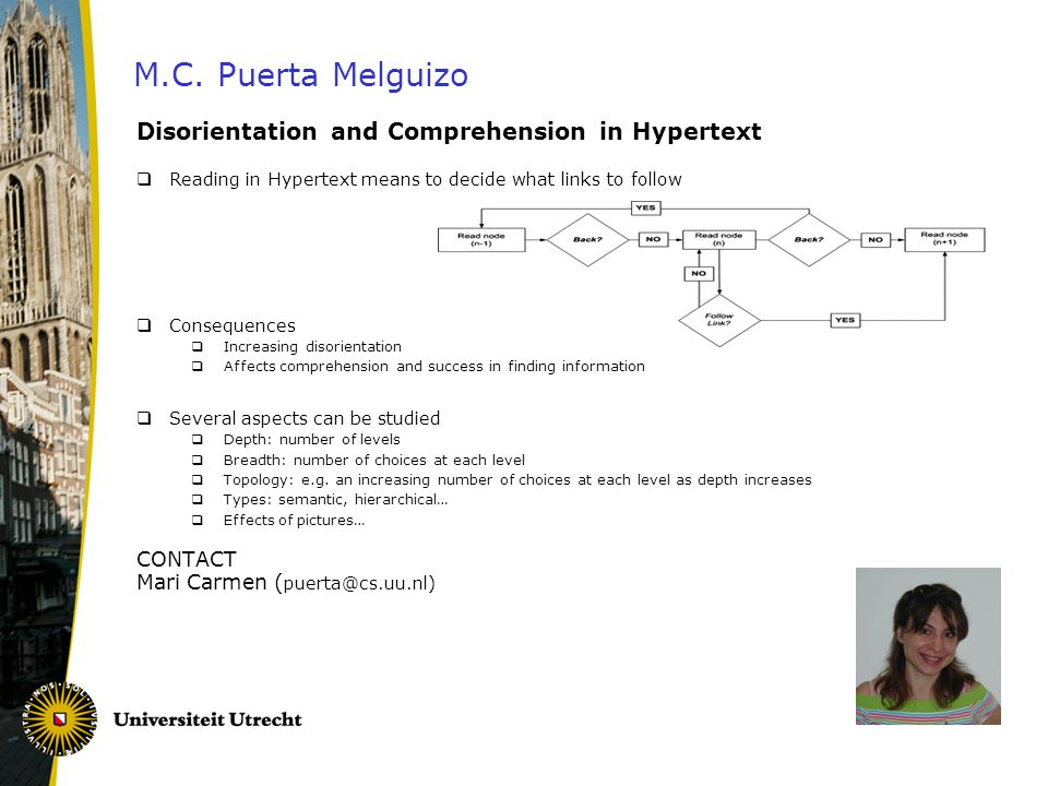 M.C. Puerta Melguizo Disorientation and Comprehension in Hypertext