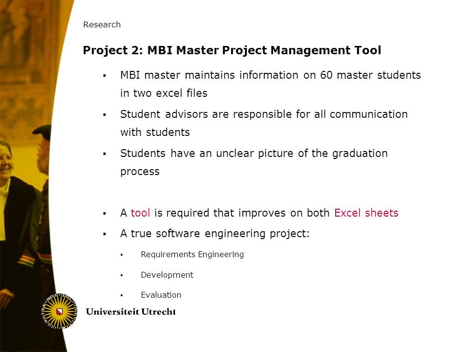 Project 2: MBI Master Project Management Tool