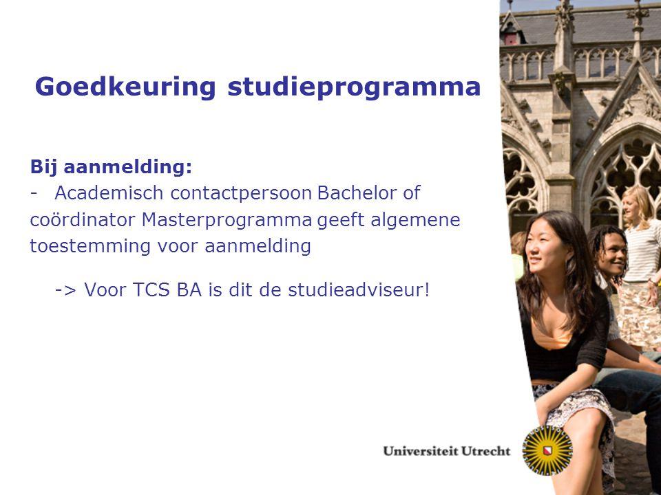 Goedkeuring studieprogramma
