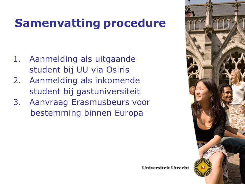 Samenvatting procedure