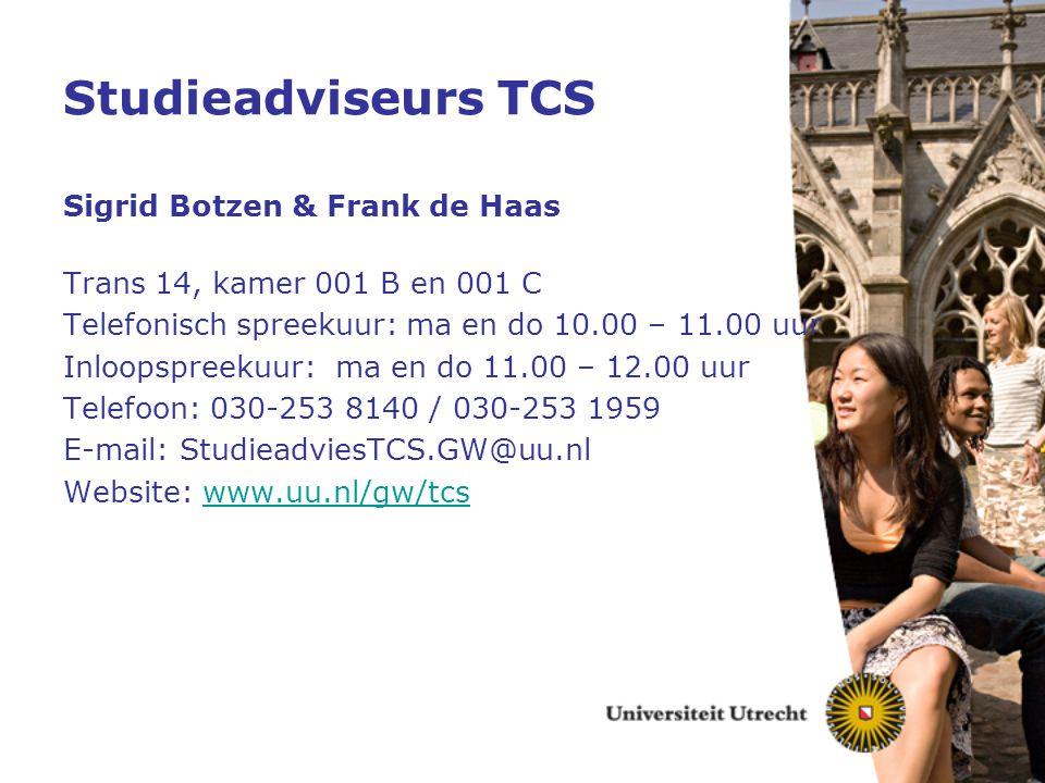 Studieadviseurs TCS Sigrid Botzen & Frank de Haas