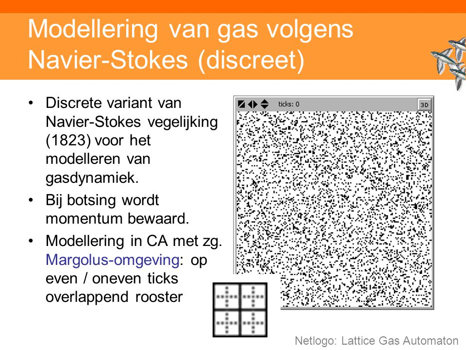 Modellering van gas volgens Navier-Stokes (discreet)