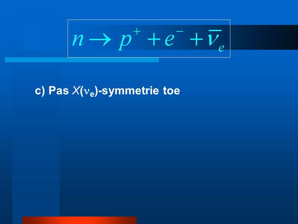 c) Pas X(e)-symmetrie toe