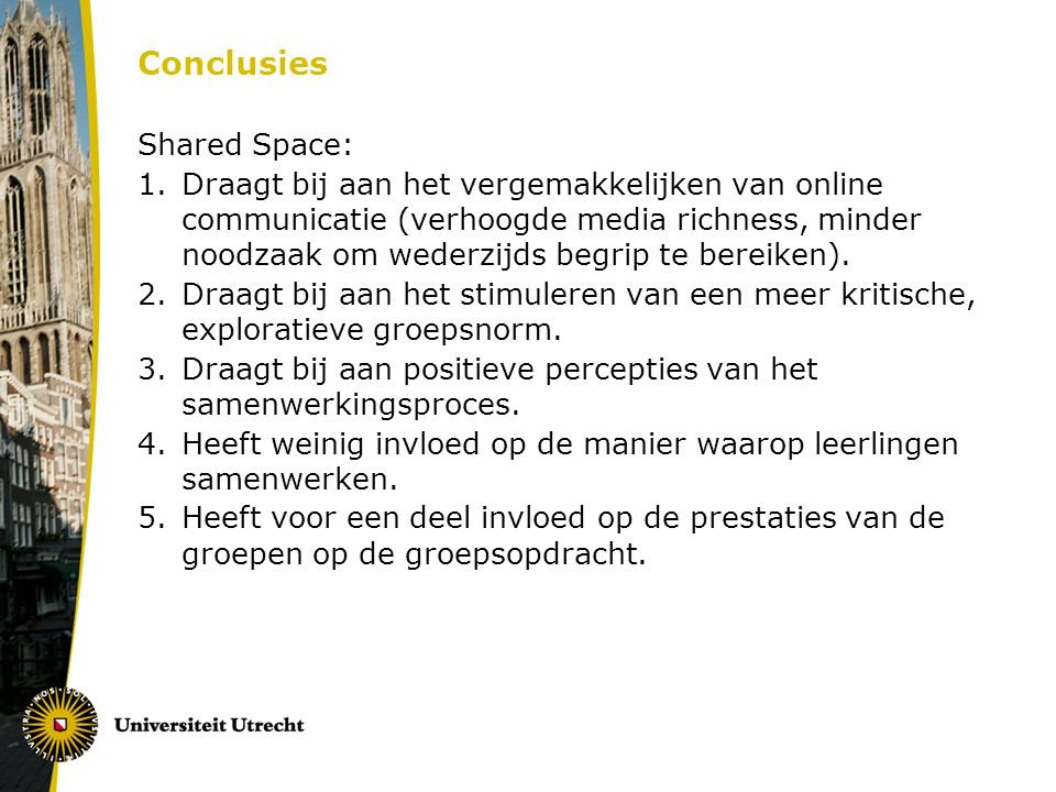 Conclusies Shared Space: