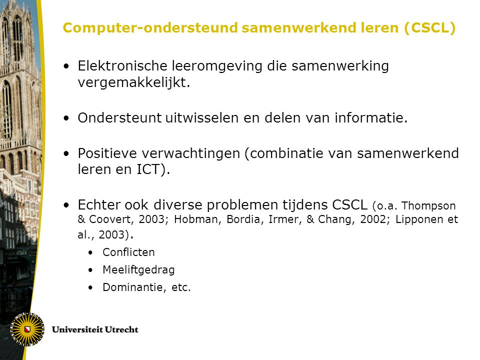 Computer-ondersteund samenwerkend leren (CSCL)