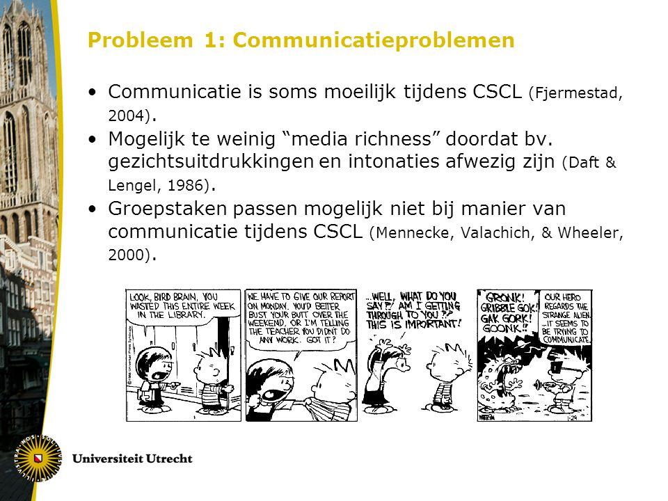 Probleem 1: Communicatieproblemen