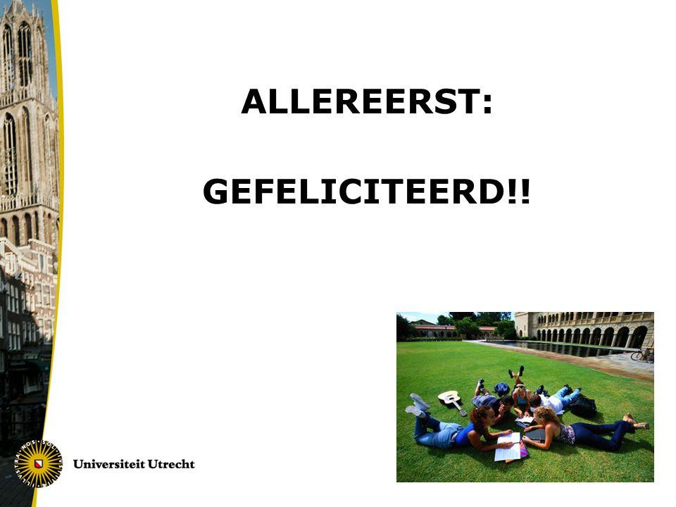 ALLEREERST: GEFELICITEERD!!