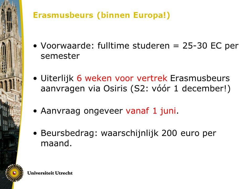 Erasmusbeurs (binnen Europa!)