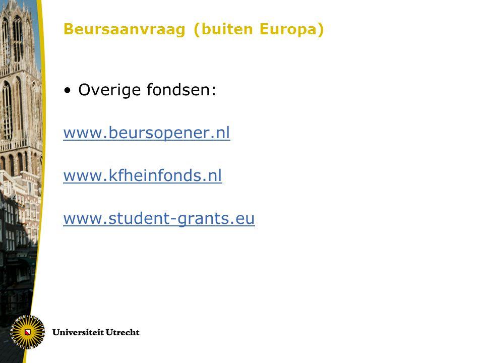 Beursaanvraag (buiten Europa)