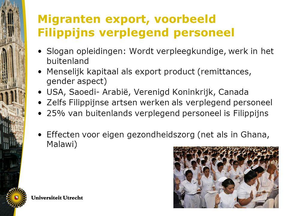Migranten export, voorbeeld Filippijns verplegend personeel