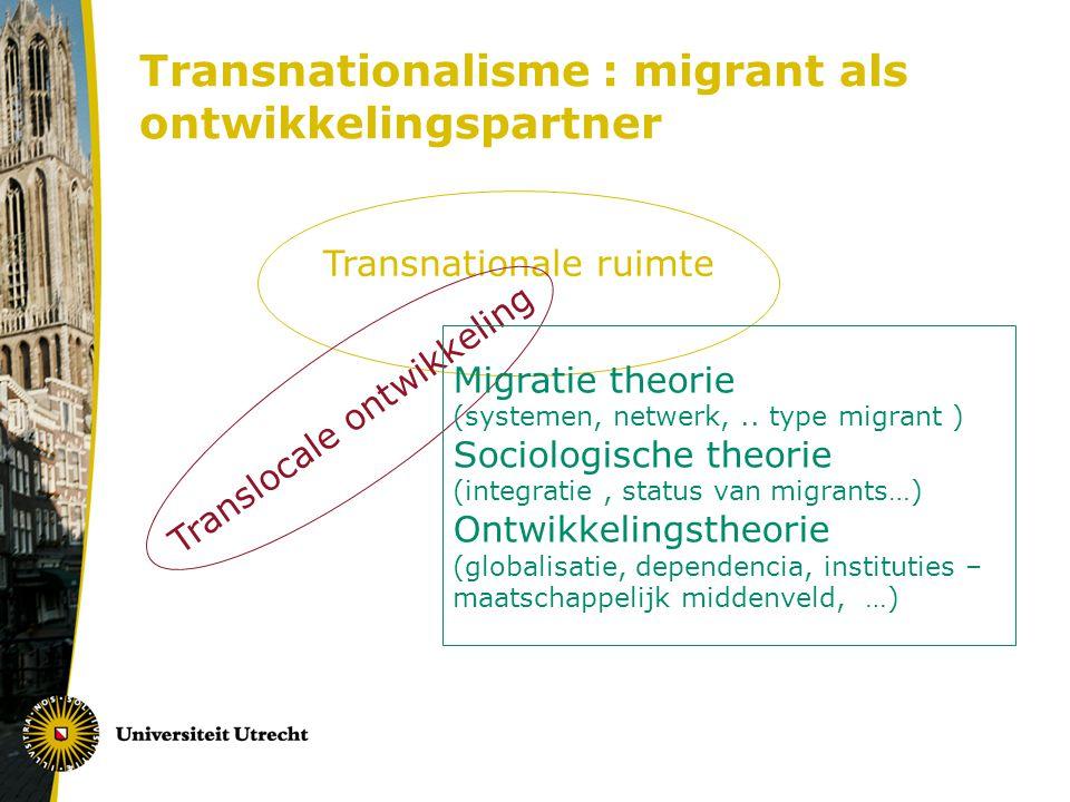 Transnationalisme : migrant als ontwikkelingspartner