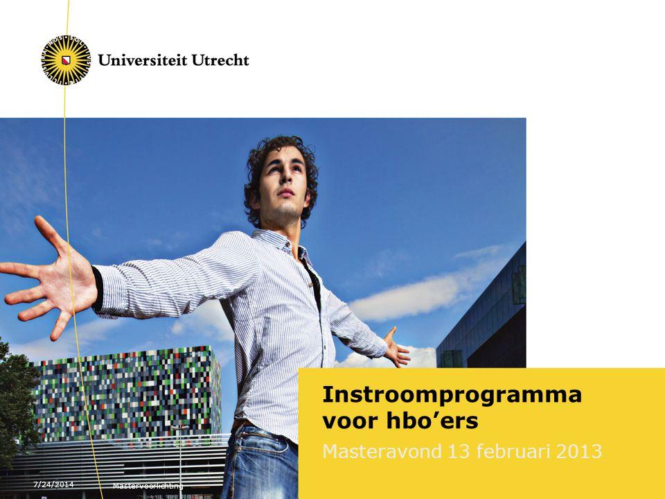 Instroomprogramma voor hbo'ers