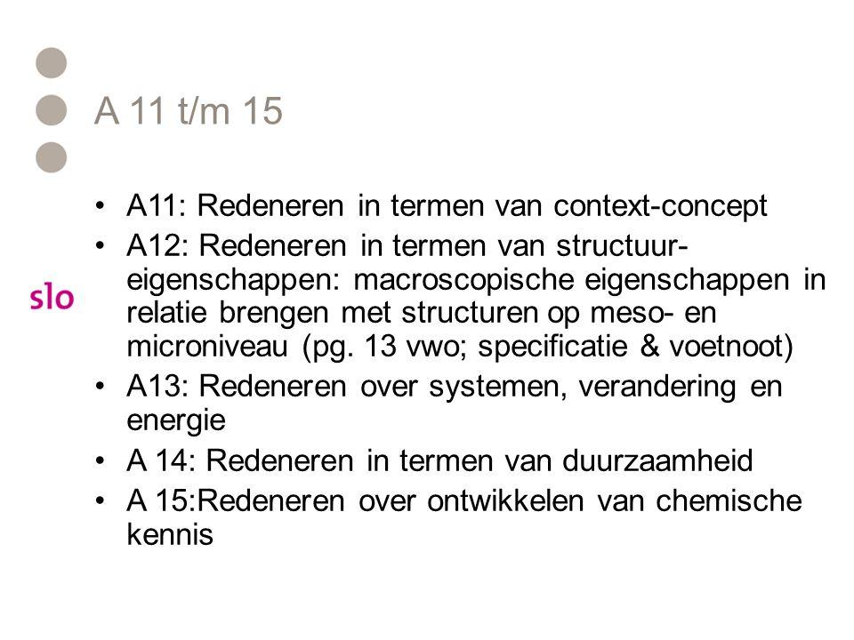 A 11 t/m 15 A11: Redeneren in termen van context-concept