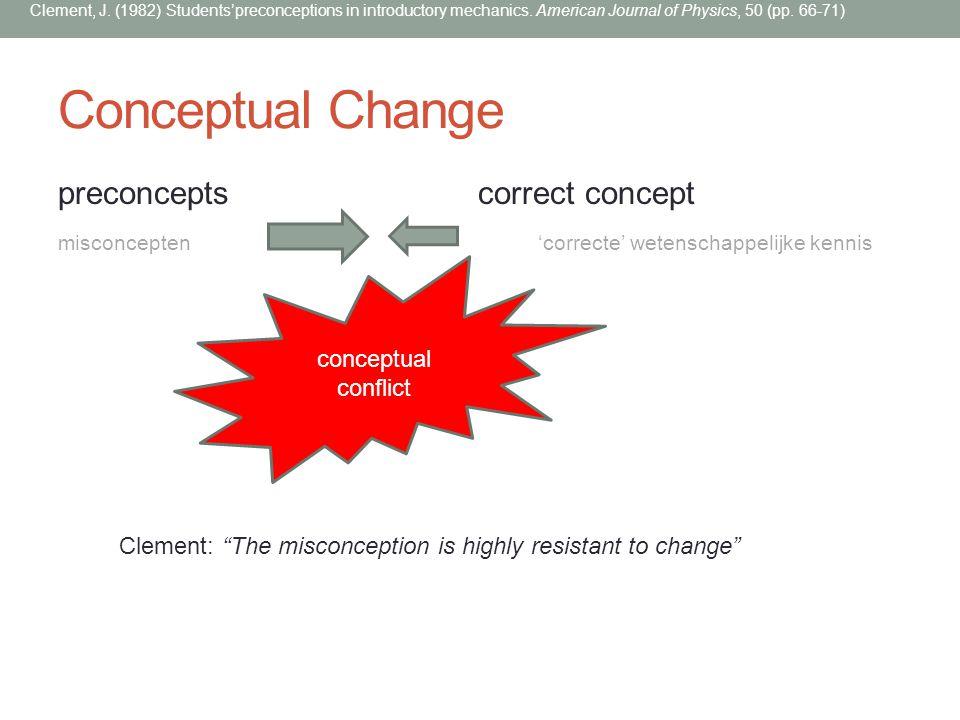 Conceptual Change preconcepts correct concept conceptual conflict