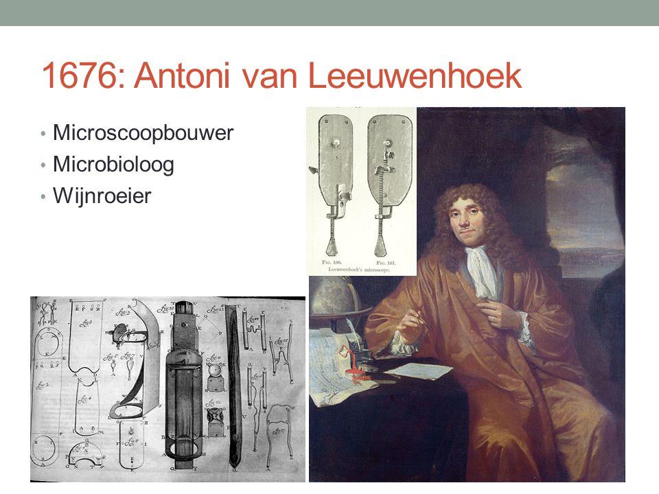1676: Antoni van Leeuwenhoek