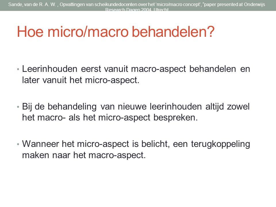 Hoe micro/macro behandelen
