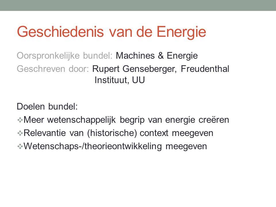 Geschiedenis van de Energie