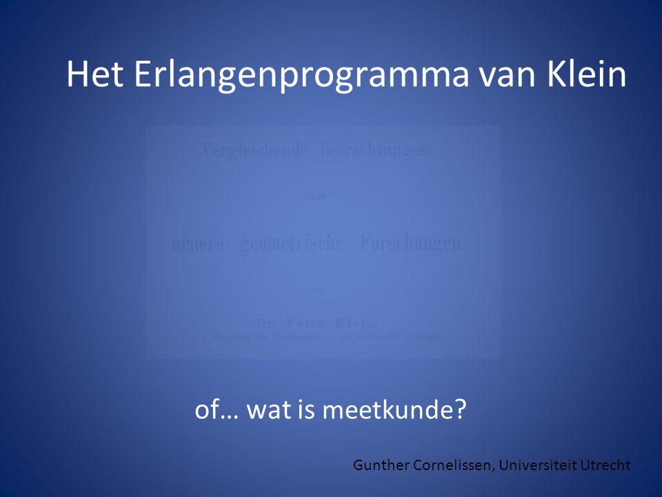 Het Erlangenprogramma van Klein