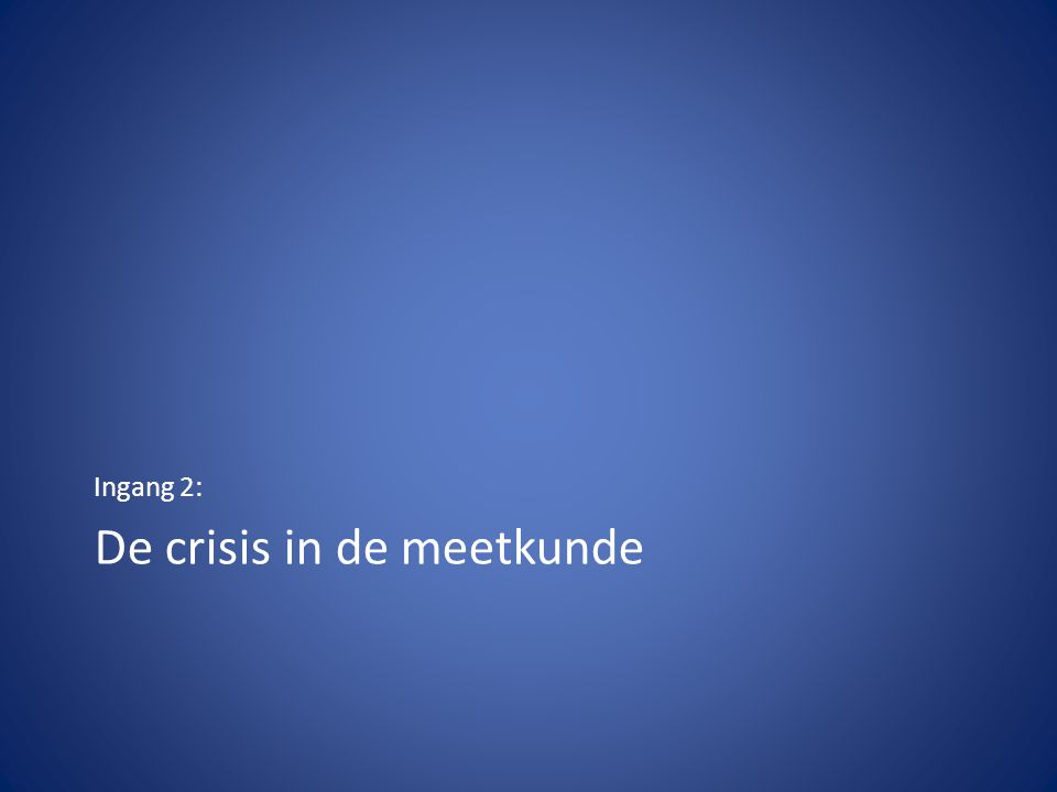 De crisis in de meetkunde