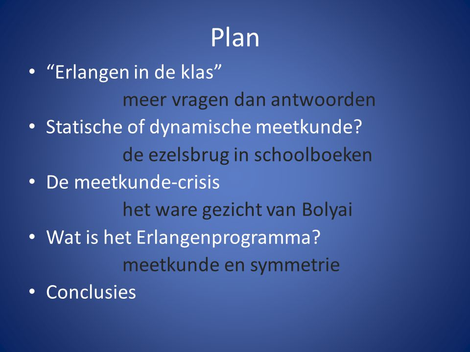Plan Erlangen in de klas meer vragen dan antwoorden