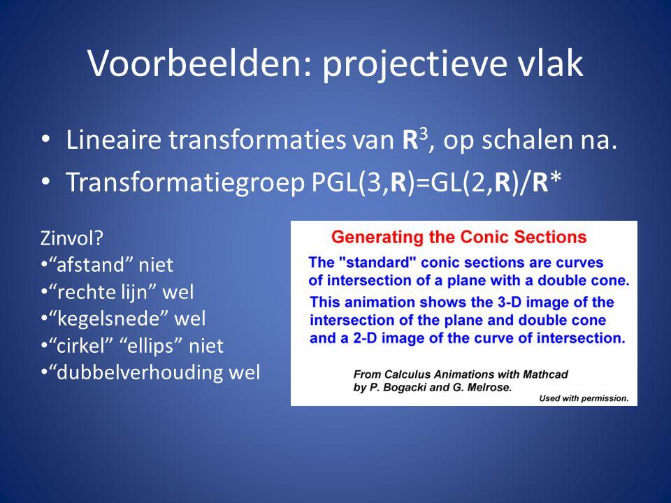 Voorbeelden: projectieve vlak