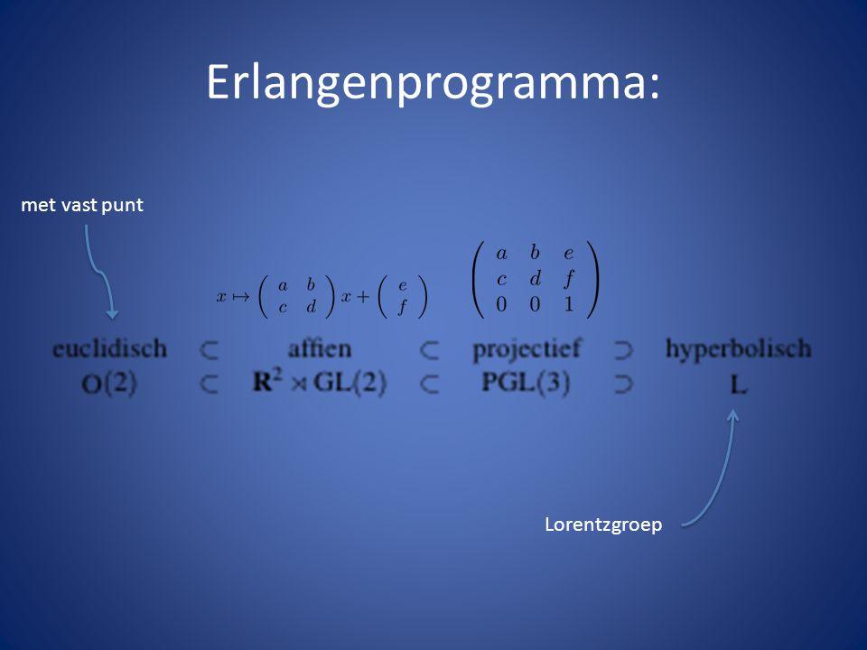 Erlangenprogramma: met vast punt Lorentzgroep