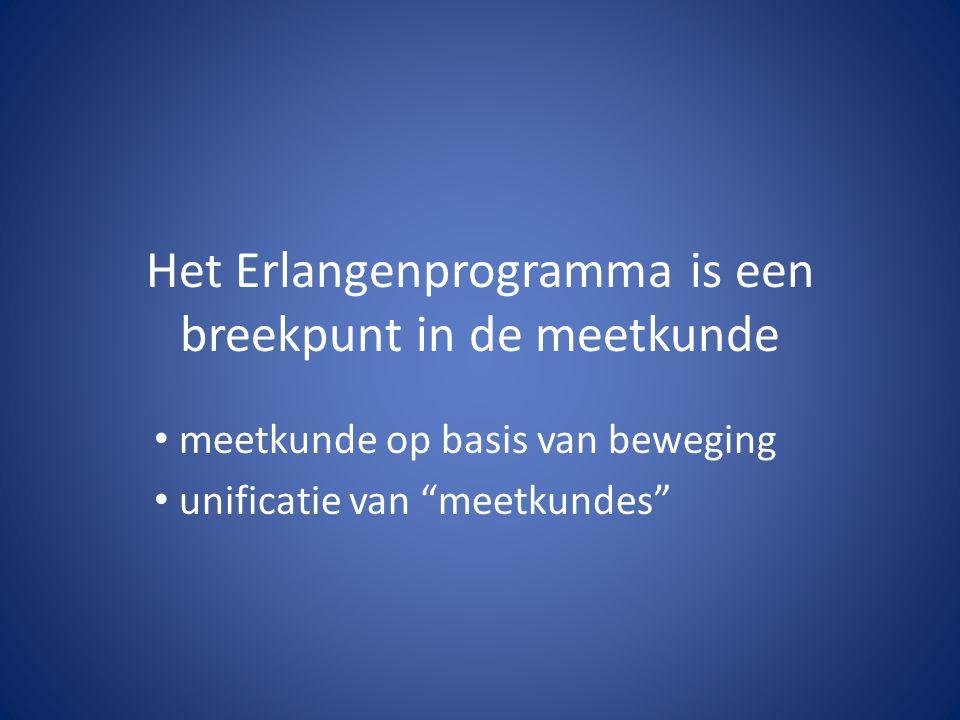 Het Erlangenprogramma is een breekpunt in de meetkunde