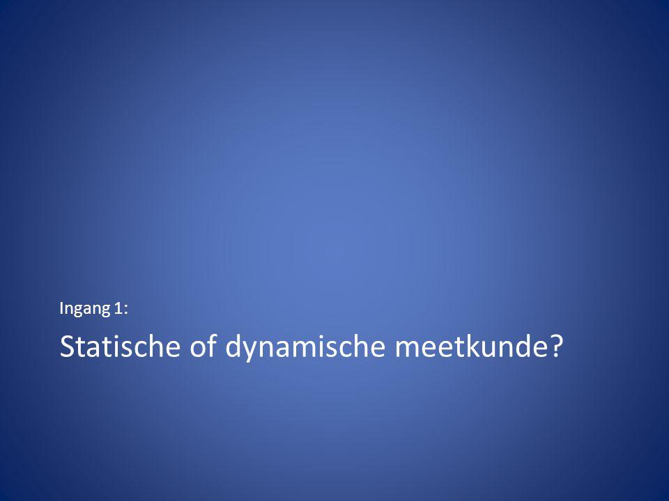 Statische of dynamische meetkunde