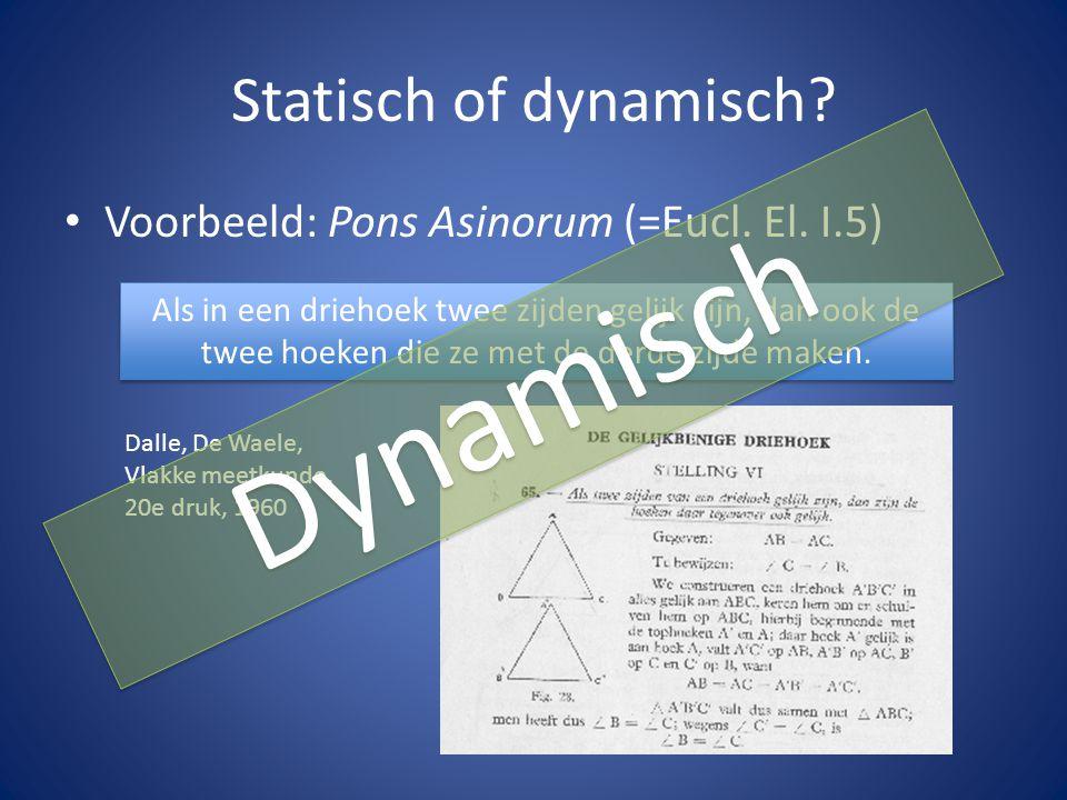Dynamisch Statisch of dynamisch