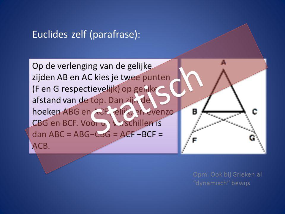 Statisch Euclides zelf (parafrase):