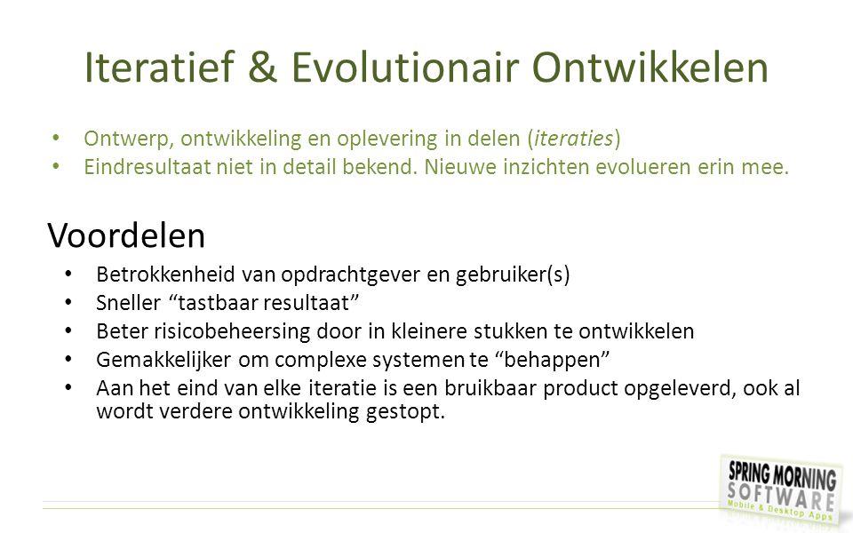 Iteratief & Evolutionair Ontwikkelen
