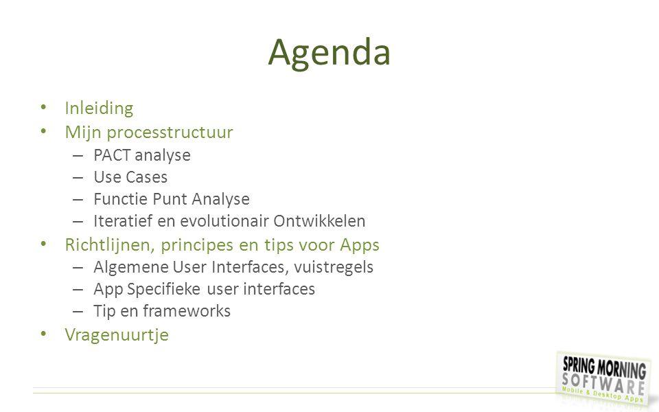 Agenda Inleiding Mijn processtructuur