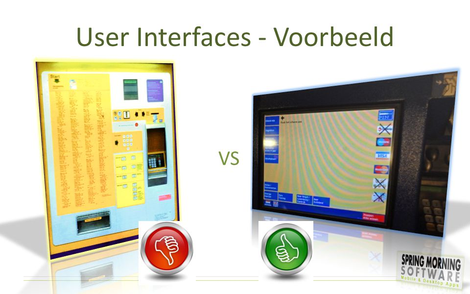 User Interfaces - Voorbeeld