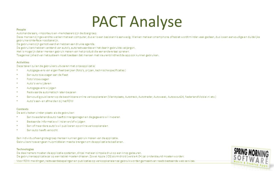 PACT Analyse