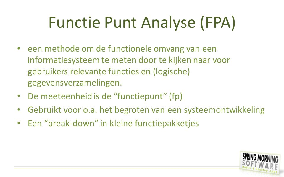 Functie Punt Analyse (FPA)